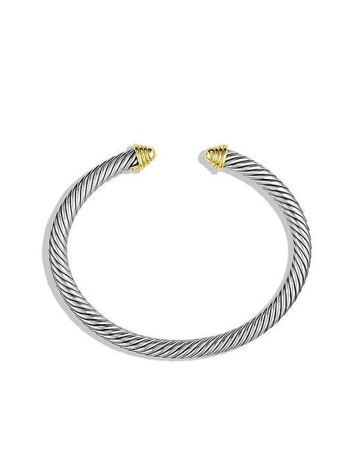 David Yurman | Metallic Cable Classics Bracelet With 14k Gold, 5mm | Lyst