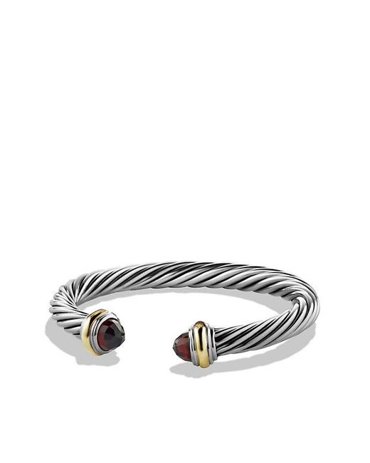 David Yurman | Blue Cable Classics Bracelet With Prasiolite And 14k Gold, 7mm | Lyst