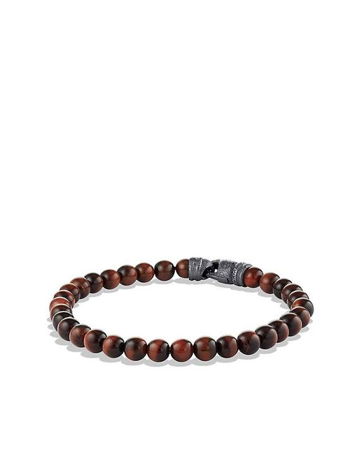 David Yurman | Spiritual Beads Bracelet With Red Tiger's Eye, 6mm for Men | Lyst