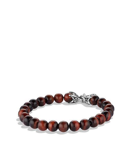 David Yurman | Spiritual Beads Bracelet With Red Tiger's Eye, 8mm for Men | Lyst