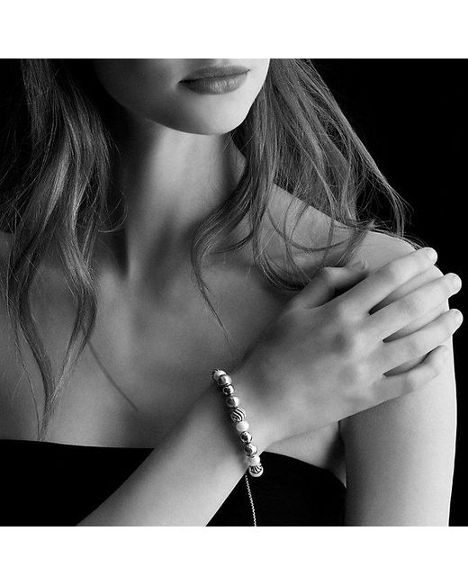 David Yurman | White Dy Elements Bracelet With Pearls | Lyst