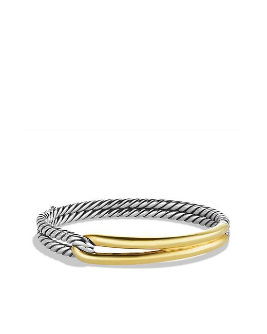 David Yurman | Metallic Labyrinth Single-loop Bracelet With 18k Gold, 10mm | Lyst