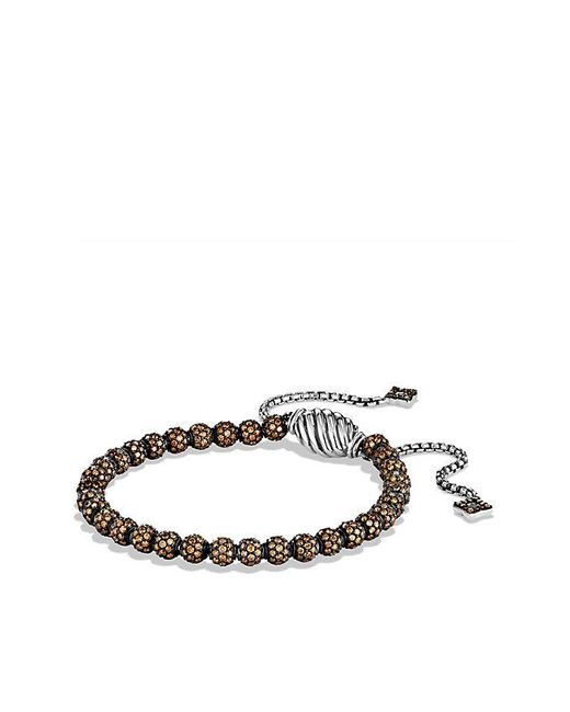 David Yurman | Brown Petite Pave Bracelet With Cognac Diamonds | Lyst