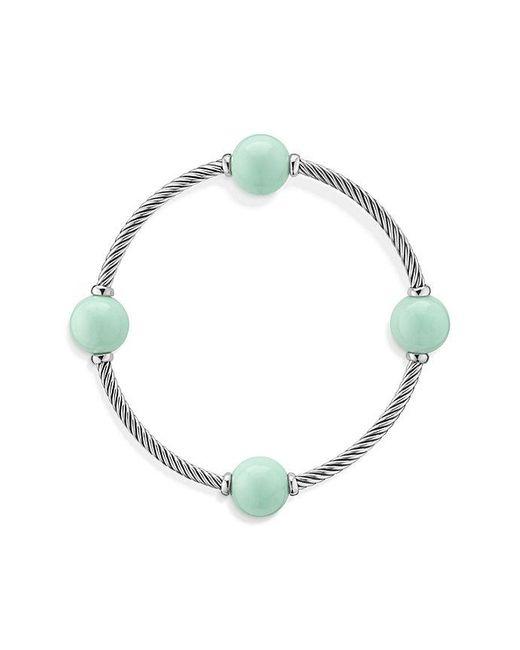 David Yurman | Green Mustique Four Station Bangle Bracelet With Mint Chrysoprase | Lyst