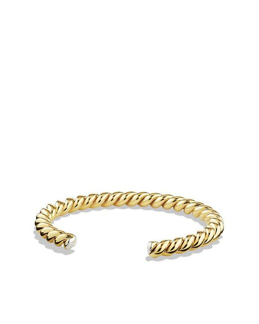 David Yurman | Metallic Cable Cuff Bracelet With 18k Gold, 6.5mm for Men | Lyst