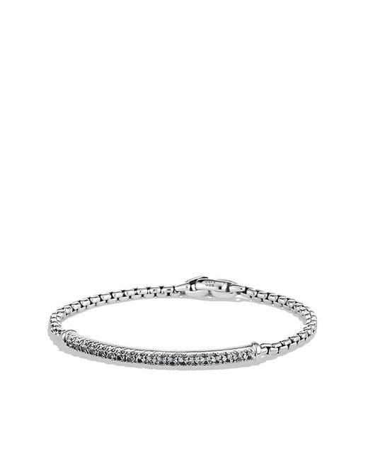 David Yurman | Metallic Pavé Box Chain Id Bracelet With Gray Sapphires for Men | Lyst