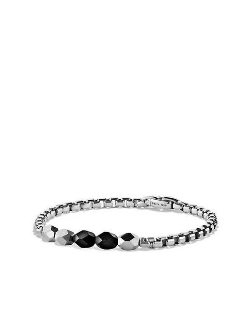 David Yurman | Faceted Metal Bead Bracelet With Black Onyx | Lyst