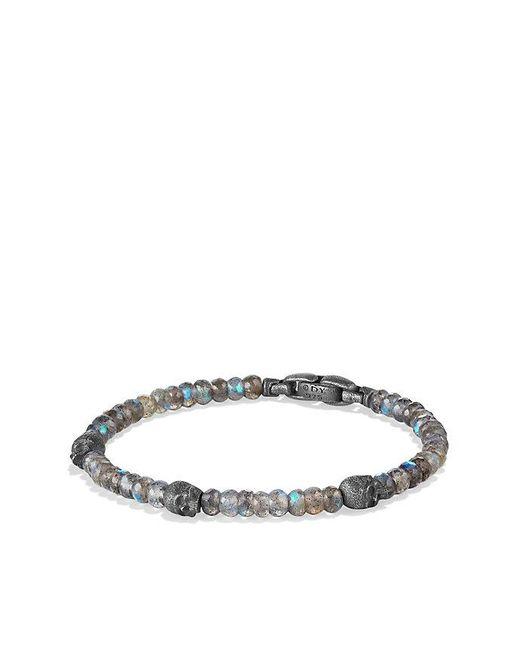 David Yurman | Metallic Spiritual Beads Skull Station Bracelet In Labradorite for Men | Lyst