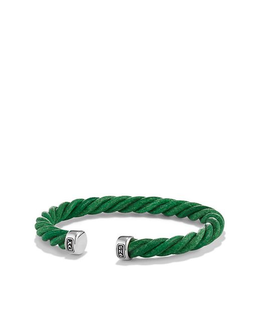 David Yurman | Cable Cuff Leather Bracelet In Green, 6mm for Men | Lyst
