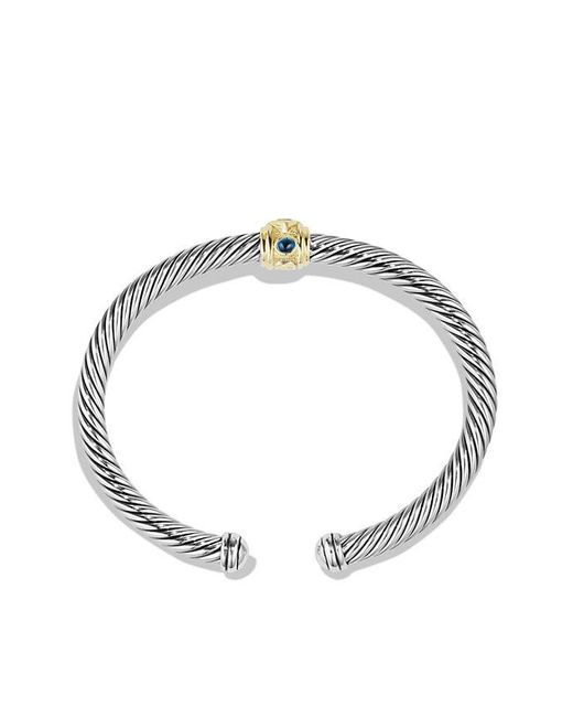 David Yurman - Metallic Renaissance Bracelet With Chrome Diopside, Hampton Blue Topaz And 14k Gold, 5mm - Lyst