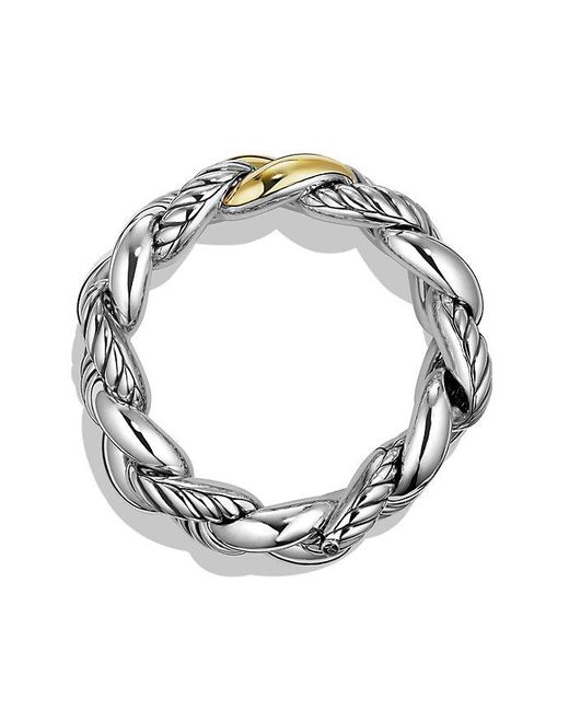 David Yurman | Metallic Belmont Curb Link Bracelet With 18k Gold, 25mm | Lyst