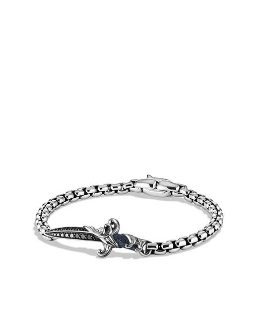 David Yurman - Waves Dagger Bracelet With Black Diamonds for Men - Lyst