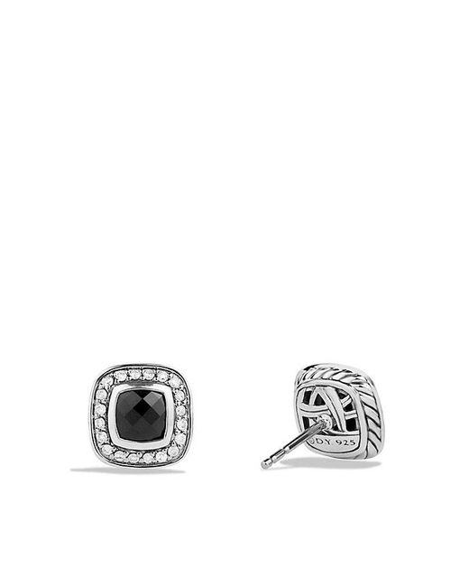 David Yurman | Petite Albion® Earrings With Black Onyx And Diamonds | Lyst