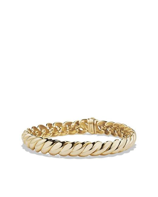 David Yurman - Metallic Hampton Cable Bracelet In 18k Gold. 8.5mm - Lyst