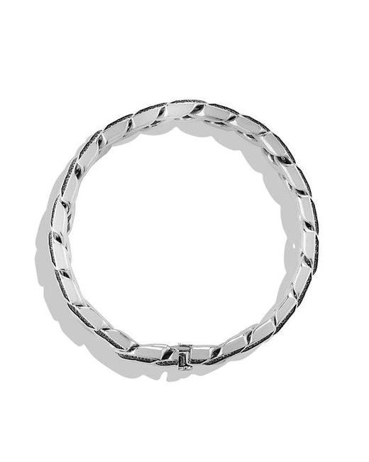 David Yurman - Curb Chain Bracelet With Gray Sapphires for Men - Lyst