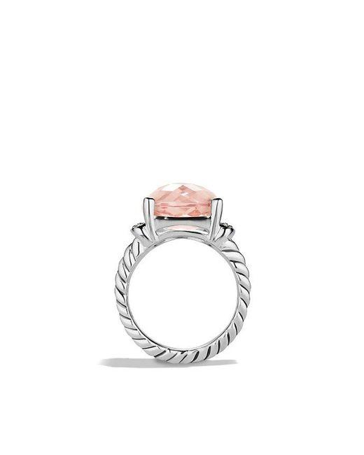 David Yurman - Metallic Wheaton Ring With Morganite And Diamonds - Lyst