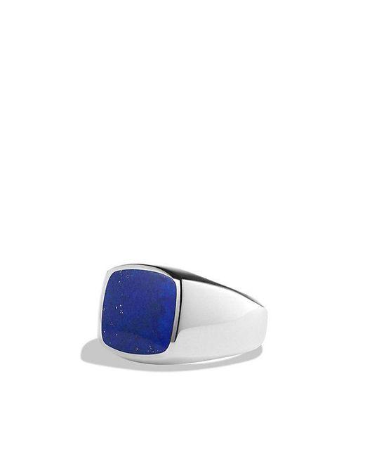 David Yurman | Blue Exotic Stone Signet Ring With Lapis Lazuli for Men | Lyst
