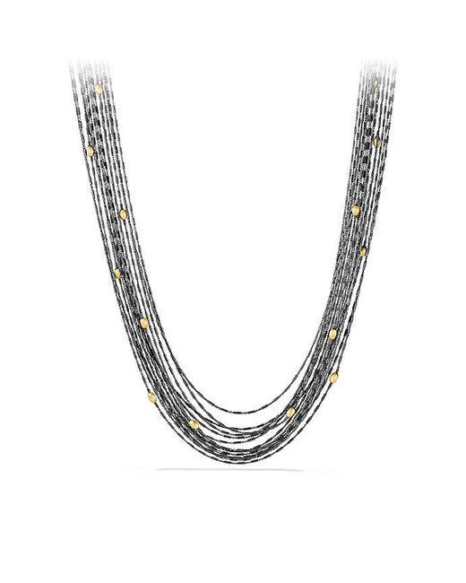 David Yurman | Metallic Chain Necklace With 18k Gold | Lyst