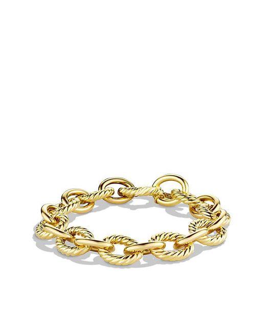 David Yurman | Metallic Large Oval Link Bracelet In 18k Gold | Lyst