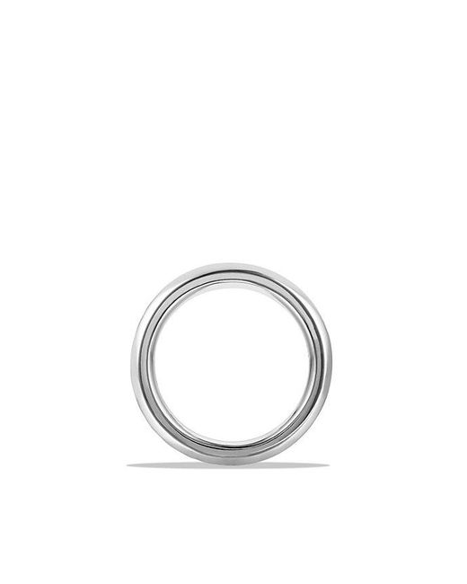David Yurman | Metallic Cable Classics Beveled Edge Band Ring In Platinum, 6mm for Men | Lyst