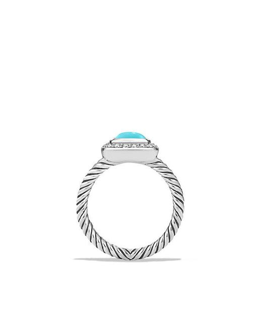 David Yurman | Blue Petite Albion Ring With Turquoise And Diamonds | Lyst
