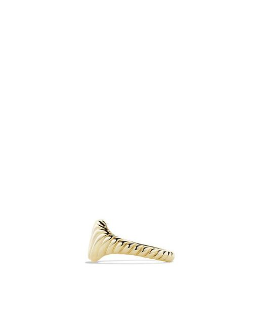 David Yurman | Metallic Sculpted Cable Mini Pinky Ring In 18k Gold | Lyst