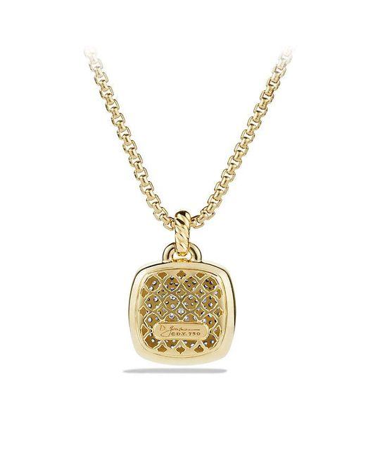 David Yurman | Metallic Albion® Pendant With Diamonds In 18k Gold, 17mm | Lyst