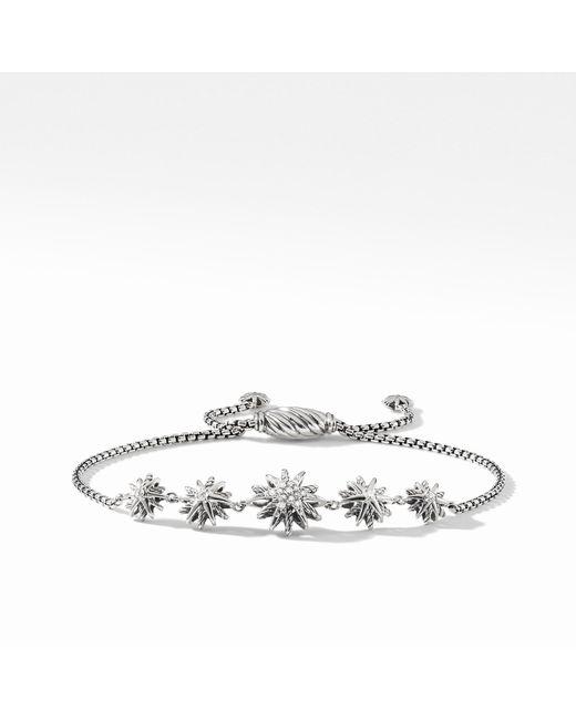 David Yurman - Metallic Starburst Five-station Bracelet With Diamonds - Lyst