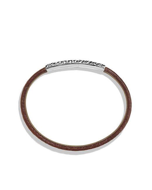 David Yurman | Naturals Gator Leather Bracelet In Brown for Men | Lyst