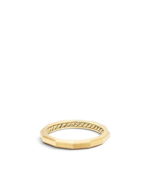 David Yurman - Metallic Dy Delaunay Narrow Band Ring In 18k Gold - Lyst
