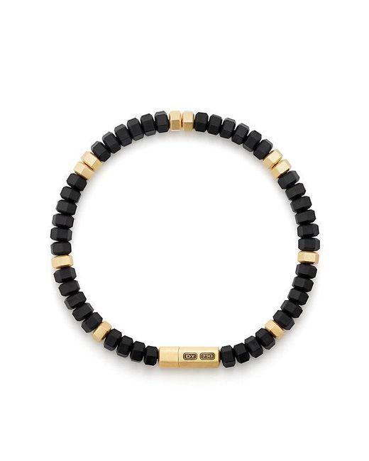 David Yurman - Metallic Hex Bead Bracelet With 18k Gold In Black for Men - Lyst