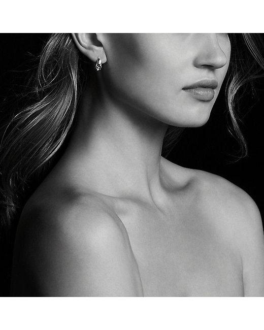 David Yurman | Metallic Pure Form Earrings With Diamonds, 15mm | Lyst