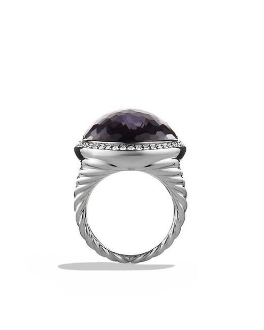 David Yurman | Purple Oval Ring With Black Orchid And Diamonds | Lyst