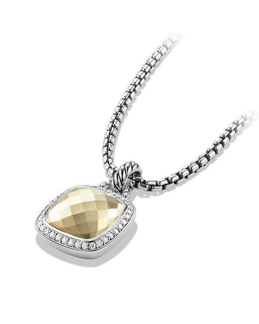 David Yurman | Metallic Albion Pendant With Diamonds And 18k Gold Dome, 14mm | Lyst