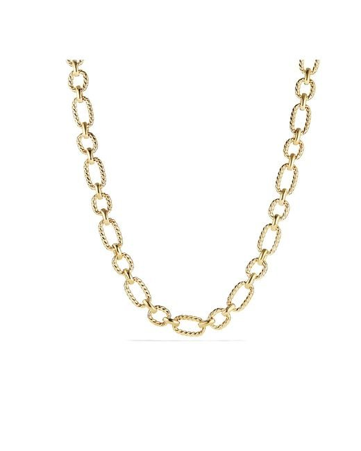 David Yurman - Metallic Cushion Link Necklace With Diamonds In 18k Gold, 12.5mm - Lyst