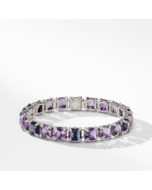 David Yurman Châtelaine Bracelet With Black Orchid Amethyst And Diamonds Lyst