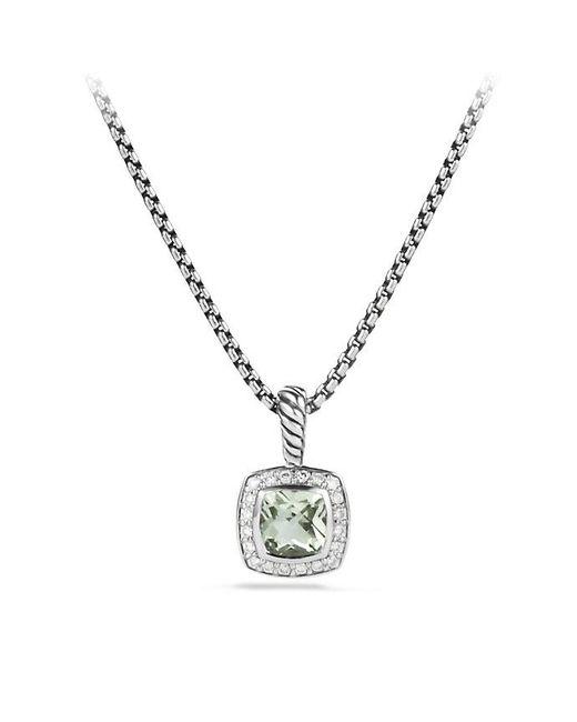 David Yurman | Metallic Petite Albion® Pendant Necklace With Prasiolite And Diamonds | Lyst