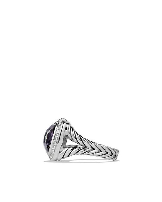 David Yurman - Metallic Albion® Ring With Black Orchid And Diamonds, 11mm - Lyst