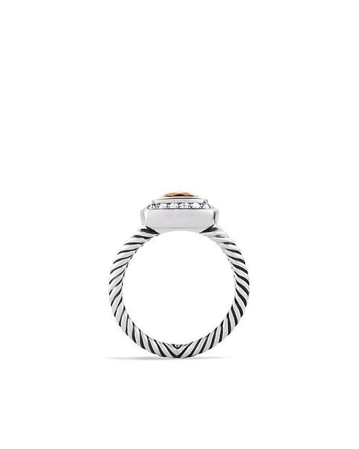 David Yurman - Metallic Petite Albion® Ring With Morganite And Diamonds - Lyst