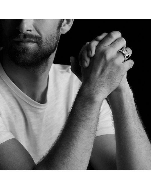 David Yurman - Metallic Pavé Signet Ring With Gray Sapphires for Men - Lyst