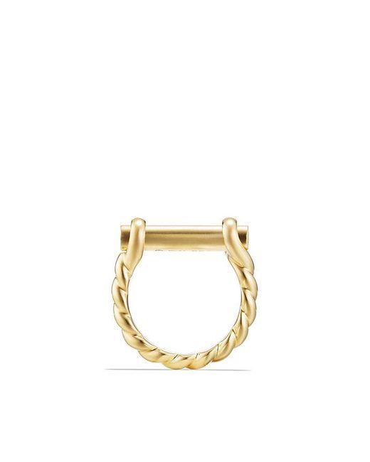 David Yurman - Metallic Maritime Shackle Ring In 18k Gold - Lyst