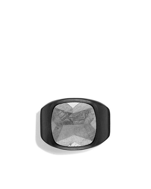 David Yurman | Meteorite Signet Ring In Black Titanium for Men | Lyst