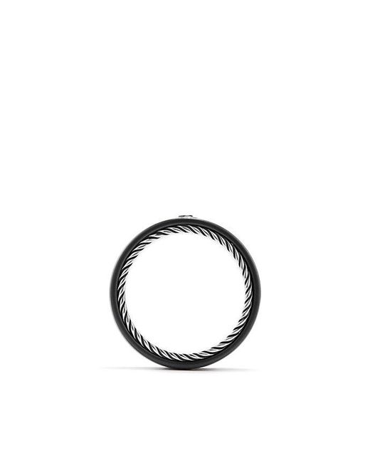 David Yurman | Men's Streamline Band Ring With Black Diamond for Men | Lyst