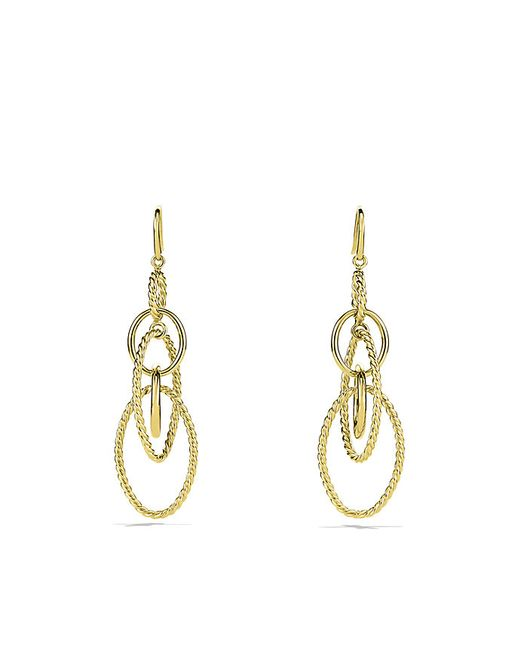 David Yurman | Metallic Mobile Chain Earrings In 18k Gold | Lyst