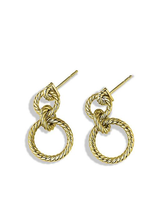 David Yurman | Metallic Mobile Cable Doorknocker Earrings In 18k Gold | Lyst