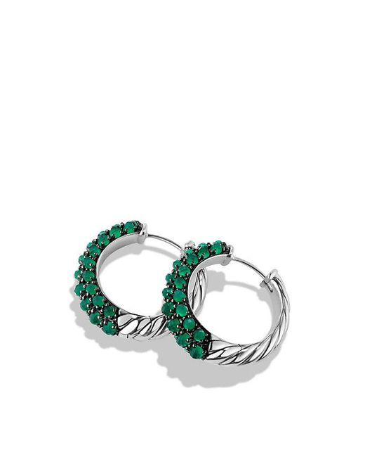 David Yurman | Osetra Hoop Earrings With Green Onyx | Lyst