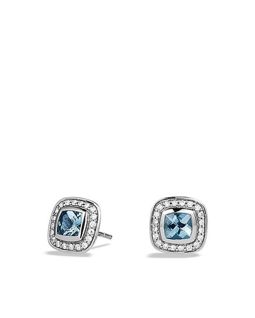 David Yurman | Petite Albion® Earrings With Blue Topaz And Diamonds | Lyst