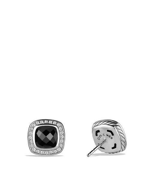 David Yurman | Albion® Earrings With Black Onyx And Diamonds, 7mm | Lyst