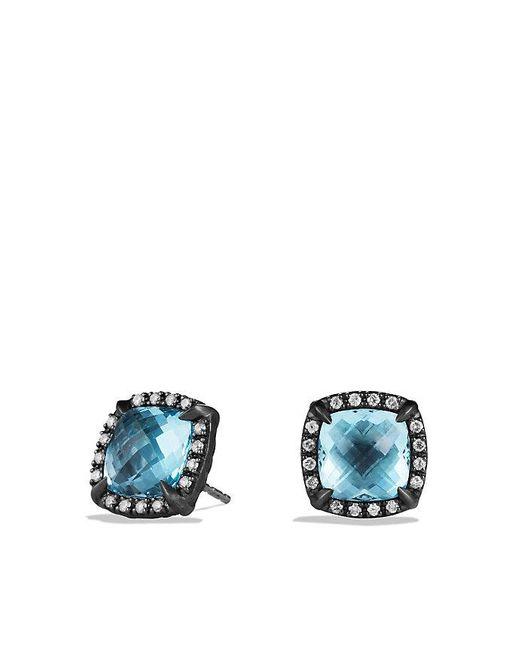 David Yurman | Blue Châtelaine Stud Earrings With Amethyst And Gray Diamonds | Lyst
