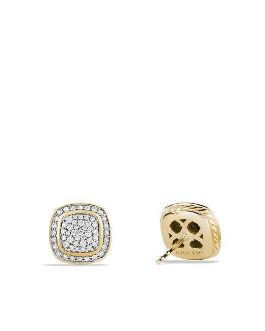 David Yurman | Metallic Albion® Earrings With Diamonds In 18k Gold | Lyst